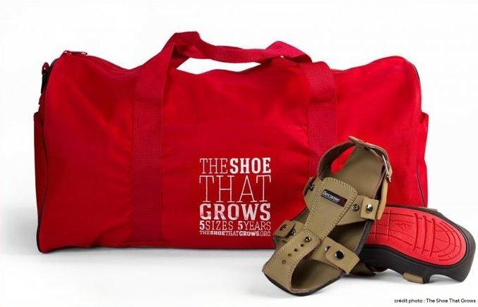 Kenton Lee invente la chaussure qui grandit pour les enfants démunis