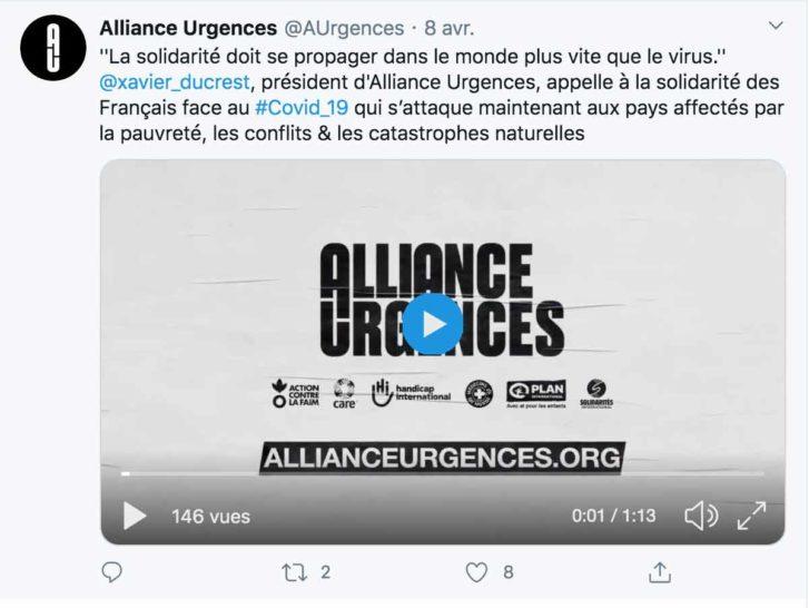 """Alliance Urgence : """"La solidarité doit être plus rapide que le virus"""""""