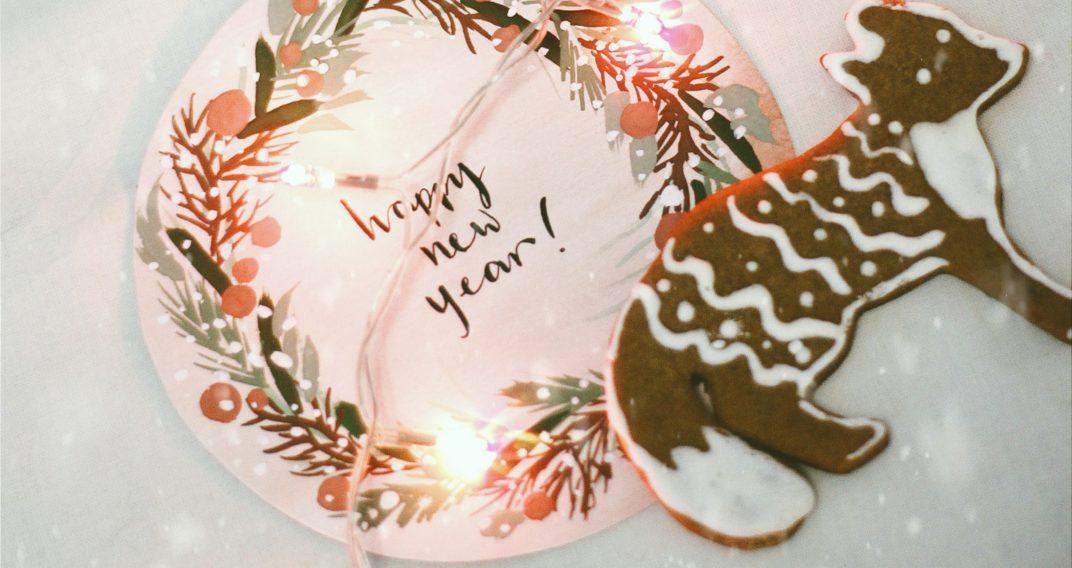 Fêtes voeux Bonne année